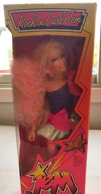 Vintage 1986 Hasbro Rock 'n Curl Jem & The Holograms Doll #4002