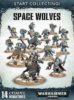 Warhammer 40K Start Collecting Space Wolves; Factory Sealed Box Set