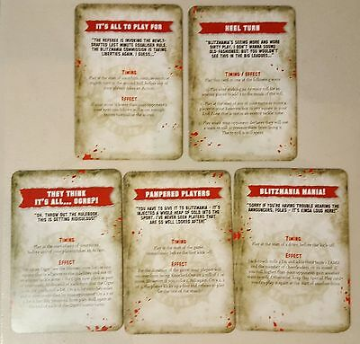 Blood Bowl Blitzbowl 2017 Misc Mayhem/Random Events Special Play Cards Set x2