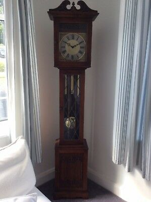 "Collectors ""Old Charm"" Grandfather clock longcase clock, chimes"