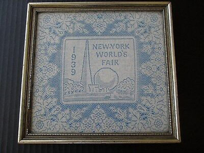 "RARE ANTIQUE FRENCH BOBBIN LACE ""NEW YORK WORLD FAIR 1939 ""MARSHALL FIELD & Co."