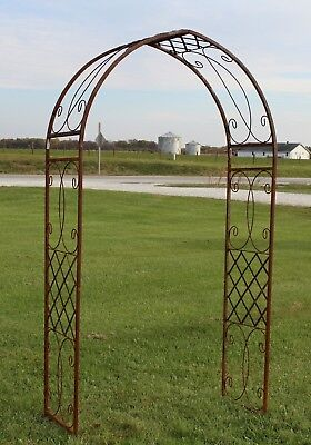 Wrought Iron Sante Fe - Garden Arch For Flowers And Vines