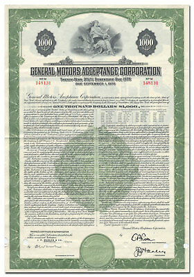 General Motors Acceptance Corporation Bond Certificate