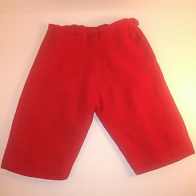 """Vintage Baby Boy Pants Size 3 Mos Ideal Johnny Playpal Size Red Heavy Wool 12"""""""