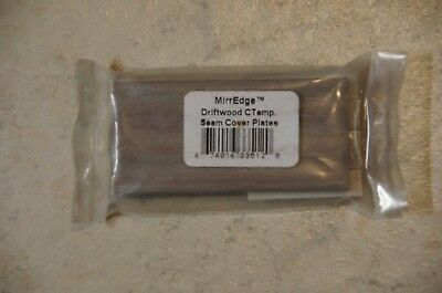New-MIRREDGE 33512 Contemporary Seam Plates, Driftwood, 1.5 x 3 (2) Pack