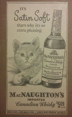 1950 McNaughton's Imported Canadian Whisky Ad Cat