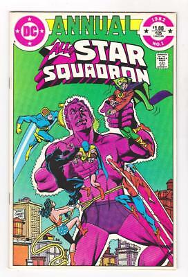 ALL-STAR SQUADRON #1  NM (9.4) 1982, THE THREE FACES of EVIL  FREE SHIPPING *