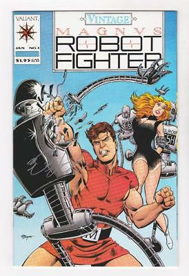 VINTAGE MAGNUS ROBOT FIGHTER 1 (NM-) SIGNED by BOB LAYTON COA (SHIPS FREE) *