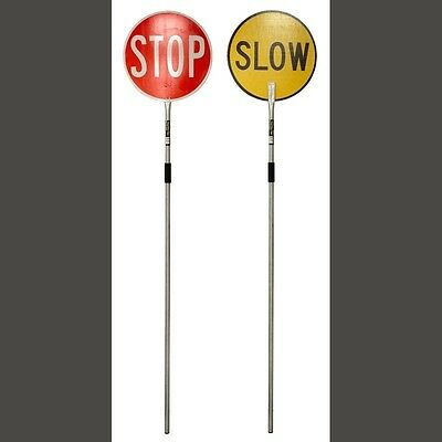ONE Double Sided Stop Slow Traffic Sign