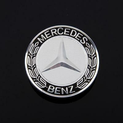 4 x MERCEDES BENZ WHEEL CENTRE HUB CAPS 10 Pin Clips 75mm Cover Badge Emblem