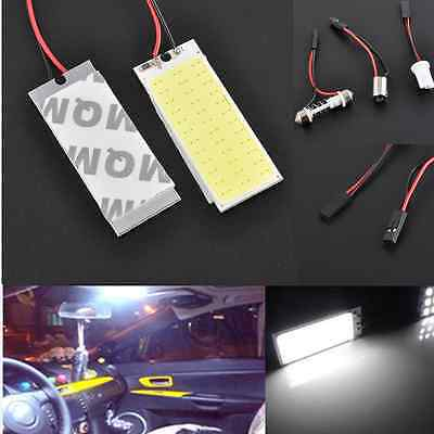 2x 12V Xenon HID White 36 COB LED Dome Map Light Bulb Car Interior Panel Lamp CN