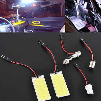 2x 12V Xenon HID White 36 COB LED Dome Map Light Bulb Car Interior Panel Lamp