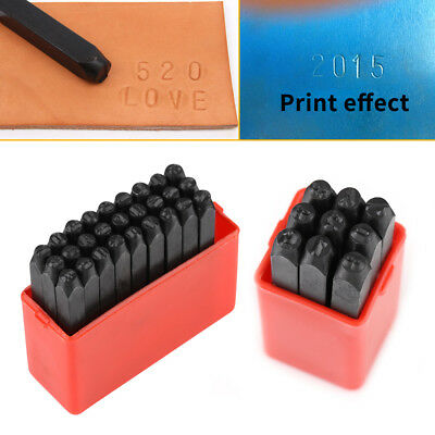 3/6MM Letter / Number Stamp Punch Set Carbon Steel Metal Leather Tool W/ Case SG