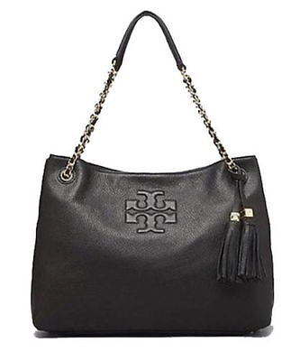 6b364879c7b9 TORY BURCH THEA Medium Slouchy Satchel 11169718  Black  -  289.99 ...