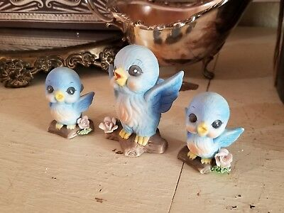Vintage Bluebirds 3 pc family set ~*So Sweet**~ kITSCh