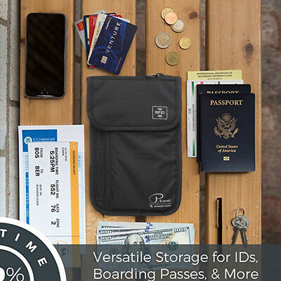Passport Holder by Organizer Solution,Travel Wallet with Rfid, Neck Pouch Wallet