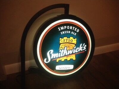 NEW VTG 2007 GUINNESS SMITHWICK'S BEER Bar Sign Beer Light IRISH PUB Lighted