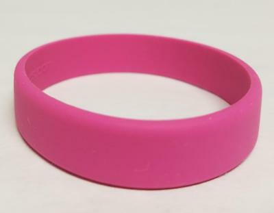 Pink fashion bracelet small adult or child size 7 inch silicon wristband