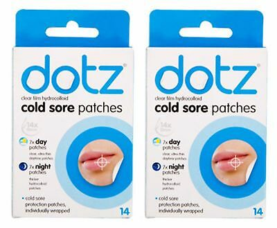 28 Hydrocolloid Dotz Cold Sore Patches Sore Mouth Plasters Skin Care Pain Relief