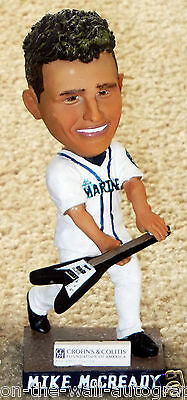 Mike Mccready Pearl Jam Hand Signed 2013 Seattle Mariners Bobble Head! W/ Proof!