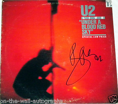 U2 Bono Hand Signed Autographed Under A Blood Red Sky Album! With Proof +C.o.a.!