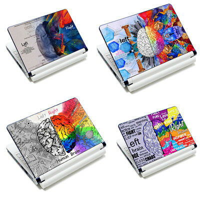"""Decal Sticker Protector Skin Cover For 12-15.6"""" Laptop Tablet Mac--Brain Design"""