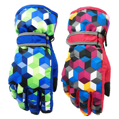 New Kid's Ski Gloves Boys Girls Winter Windproof Glove Snow Sports Hands Warmer