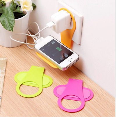 2Pcs Mobile fold Cell Phone Holder Convenient Hangs Wall Charger Bracket