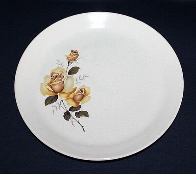 Eclectic Aust Ceramics 4 JOHNSON BROS Dinner Plates Yellow Rose, Daisies, Pear