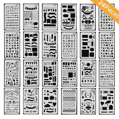 Bullet Journal Stencil Set Plastic Template DIY Drawing Planner Journal/Diary