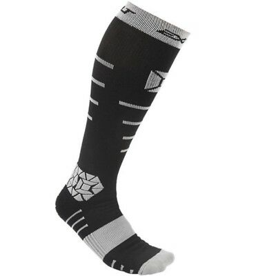 Exalt Paintball Kompressions Socken, lang (schwarz / grau)