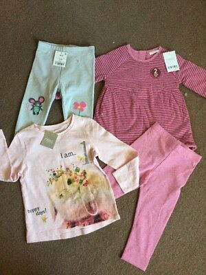 Next Baby Girls Bnwt Clothes Bundle Age 9-12-24 Months