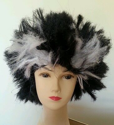 Black And White Wolf man Wig Unisex Halloween Costume Party