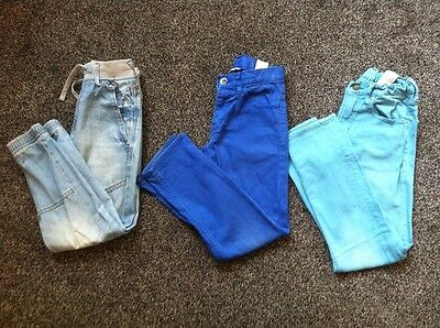 Bundle Boys Trousers Jeans Cuffs H&M 9-10 Years Denim Blue X 3