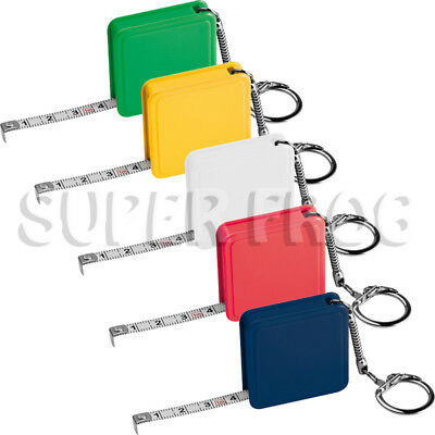 1m Meter Metric Tape Measure Pocket Keyring Measuring