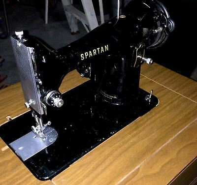 Vintage Spartan 192K Sewing Machine Simanco Canada Foot Peddle Singer Tested