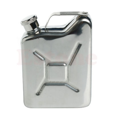 5oz Stainless Steel Jerry Can Hip Flask Liquor Whisky Pocket Bottle Men Gift