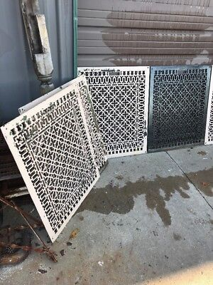 H0 8Available Price Separate Antique Heating Or Cold Air Grate 26.5 X 32.25