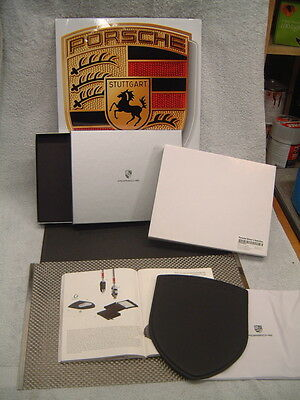 "Porsche Design Driver's Selection Blk. Leather Mouse Pad W/ ""porsche"" In Releif."