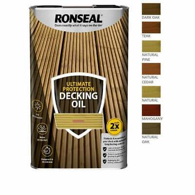 Ronseal Ultimate Protection Decking Oil 5 Litre Clear Or 5 Natural Shades