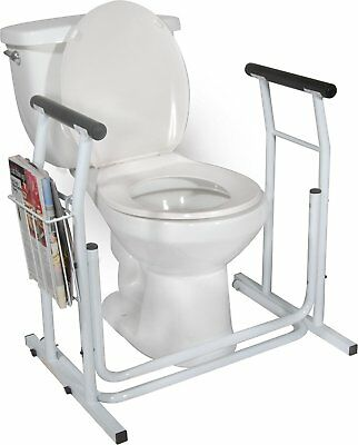 Toilet Safety Frame with Magzine Rack