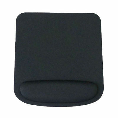 Mouse Pad with Wrist Rest mat ergonomic large square mice optical PC Black