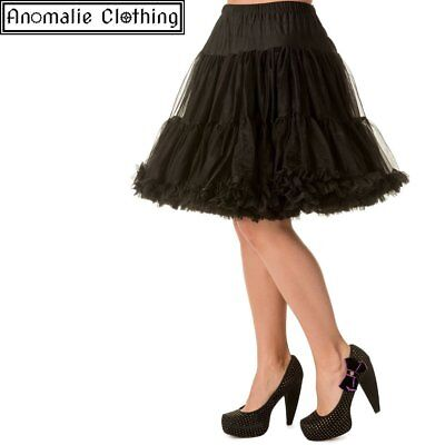 "Banned Apparel Black 20"" Short Dancing Days Petticoat - 1950s Vintage Retro Goth"