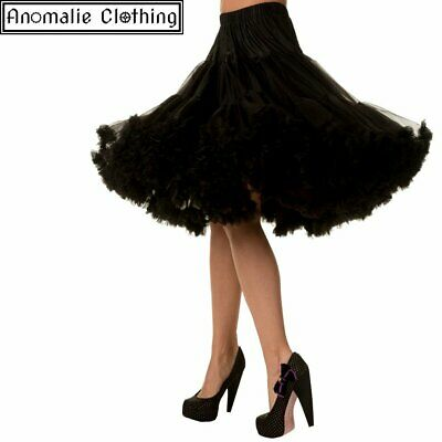 Banned Apparel 26 inch Long Lifeforms Petticoat Black - 1950s Retro Rockabilly