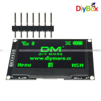 """2.42"""" inch OLED LCD Display SSD1309 128x64 SPI/IIC Serial Port Green for Arduino"""