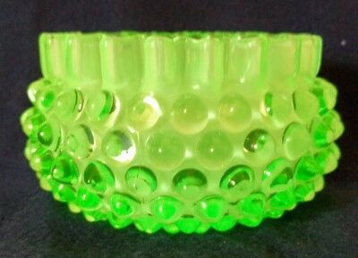 1880s HOBBs Brockunier Rare Uranium Frances Ware Dew Drop Antique Finger Bowl!