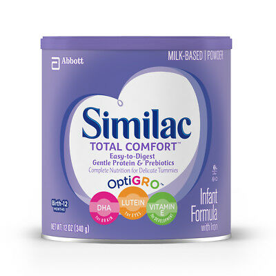 Abbott Nutrition Similac Total Comfort Infant Formula w/ Iron, Powder, 12 oz 6Pk