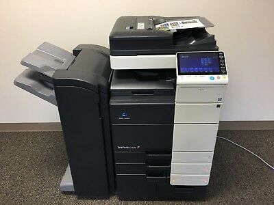 Konica Minolta Bizhub C754e Color Copier Printer Scanner Fax LOW 127k total !
