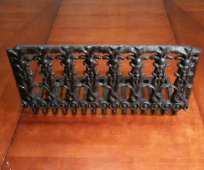 Antique Cast Iron Ornate Fireplace Grate