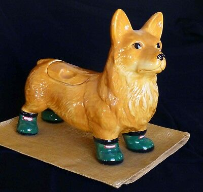 Anthropologie discontinued Pembroke Welsh Corgi Cookie Jar - RARE